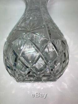 12 H American Brilliant Period ABP Clear Cut Glass Vase Thick Glass Crystal