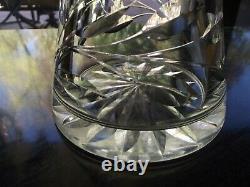 12 Vase Corset Hobstar Flower ABP antique American Brilliant Cut glass crystal