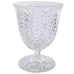 1960s Val St Lambert Cut Crystal Footed Coupe Vase