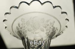 19th Century French Baccarat Cut Crystal & Gilt Ormolu Winged Lady Trumpet Vase