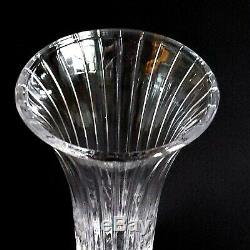 1 (One) MIKASA PARK LANE Cut Lead Crystal Flared 10 Vase DISCONTINUED
