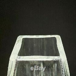 1 (One) WATERFORD LISMORE 8 Square Cut Lead Crystal Flower Vase Signed