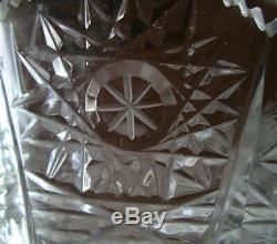 AMERICAN BRILLIANT cut glass LARGE 10 vase