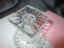 ANTIQUE c. 1825 ANGLO-IRISH HAND CUT CRYSTAL GLASS MATCH SPILL VASE