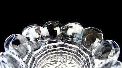 Abp American Brillian Period Cut Crystal Sunburst Step Neck 6 1/8 Vase 1890-191