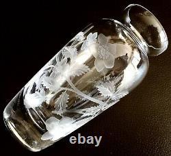 Absolutely Beautiful Rare Signed Vintage Stuart Crystal 6/15cm Hand Cut Vase