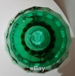 Aimo Okkolin Riihimäen Lasi Oy Monumental Cut Crystal Vase 1946 One of a Kind