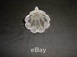 American Brilliant Car Auto Vase Epergne Cut Glass Diamond Antique Faceted