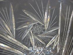 American Brilliant Cut Art Glass Crystal Vase, 10 Tall X 6 1/2 Diameter (Rare)
