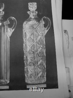 American Brilliant Cut Glass Antique Crystal 10 Vase In Navarre Signed Hawkes