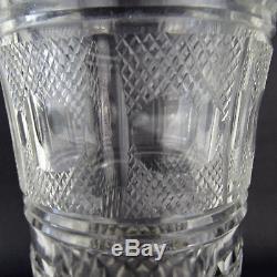 Antik Baccarat Kristall Vase Cut Crystal Gilt Bronze State Antique French 19th C