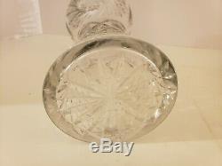 Antique 19th C. Large 12 ABP American Brilliant Period Deep Cut Crystal Vase