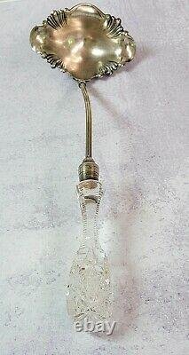 Antique ABP American Cut Glass JD Bergen Punch Ladle