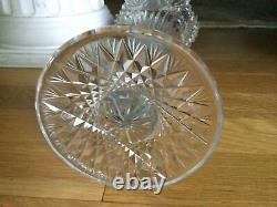 Antique ABP Cut Glass Crystal Trumpet Vase American Brilliant Period