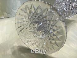 Antique American Brilliant Abp Trumpet Vase Cut Crystal 15