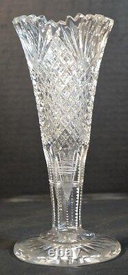 Antique American Brilliant Cut Crystal Vase