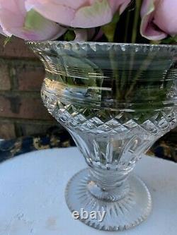 Antique Anglo Irish Georgian Cut Glass Crystal Vase Urn