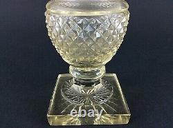 Antique French Baccarat Clear Crystal Diamond Cut Glass Vase Empire Circa 1900
