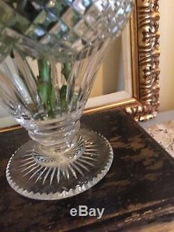 Antique Georgian Cut Glass Crystal Vase Urn