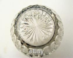 Antique Hawkes Brilliant Cut Crystal Bud Vase