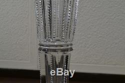 Antique Hawkes Crystal Trumpet Vase 14, American Brilliant Period, Cut Glass