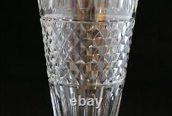 Antique Hawkes Sterling Silver mounted Cut Glass Crystal Vase 11.5 Tall S1219