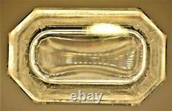 Antique Original Signed Vintage Kosta Boda Art Deco Crystal Cut Satin Glass Vase