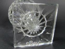 Antique SAINT LOUIS French Crystal Model EMPIRE Vase Diamond Cut Footed Signed