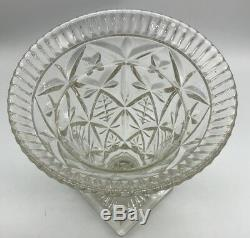 Antique Victorian Cut Glass Crystal Urn Shaped Vase MUST SEE