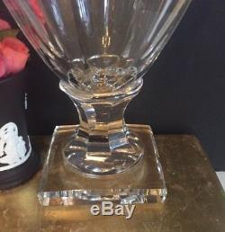 Antique Vintage St. Lambert Cut Crystal Vase Statue Urn