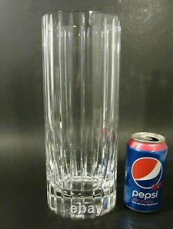 BACCARAT France HARMONIE BIG 11.75 Cut Crystal French Art Glass Flower Vase