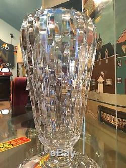 BEAUTIFUL AMERICAN Antique BRILLIANT CRYSTAL CUT GLASS VASE Home Decor Art