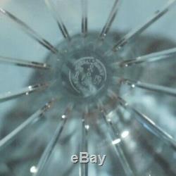 Baccarat Brick Cut Crystal Carafe Vase Decanter