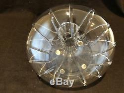 Baccarat Crystal Carafe Vase Decanter Brick Cut Vintage 8 H France Heavy
