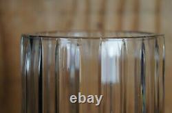 Baccarat Cut Crystal Harmonie Fluted Glass Round Cylinder Flower Vase France 12