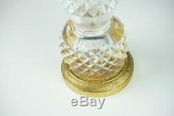 Baccarat French Cut Crystal Bronze Flower Bud Vase