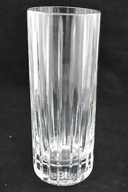 Baccarat Harmonie Cylinder Vase Vertical Crystal Cut Flower Bud Vase France