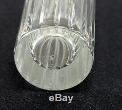 Baccarat Harmonie Hand Cut Crystal Vase. Makers Mark on Reverse