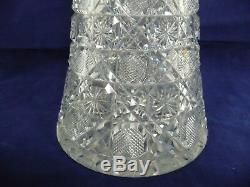 Beautiful Early American Brilliant Monumental 16 Cut Glass Vase
