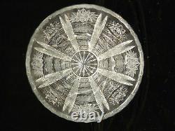 Beautiful Vintage Bohemian Czech Queens Lace Cut Crystal Vase