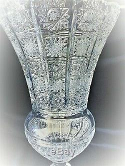 Bohemia Crystal Hand Cut 14'' Tall Vase II
