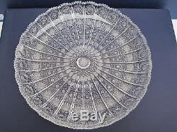 Bohemia Queen Lace Hand Cut 24% Lead Crystal Round Tray11 Mint Nib