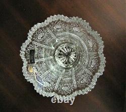 Bohemian Czech Crystal 8 Vase Hand Cut Queen Lace 24% Lead Glass