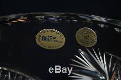 Bohemian Czech Crystal Vase, 16H, NIB, HAND CUT, HUGE! ALL tags, SALE SAVE $750