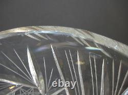 Bohemian/Czech Cut Art Glass Crystal Vase, 10 Tall X 6 1/2 Diameter