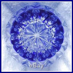 COBALT BLUE Vase CUT TO CLEAR 24% PbO CRYSTAL Nachtmann BAMBERG Bavaria GERMANY