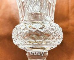 C. 1950s French Baccarat Glass, Compania Vase with Bronze Mounts