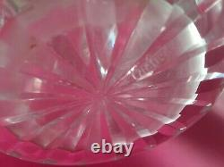 Cartier Vintage Cut Crystal 9Vase Criss Cross & Vertical Signed Bottom in Photo