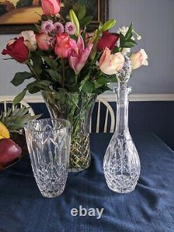 Chartres (Cut) by ATLANTIS Decanter, 8 3/4 Vase, 12 Vase Cut Crystal 1984-2019