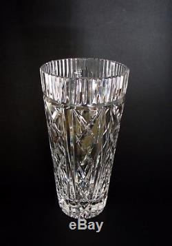 Cut Crystal Vase & Collectible Waterford Crystal Ireland Cut Glass Tall Flower ...